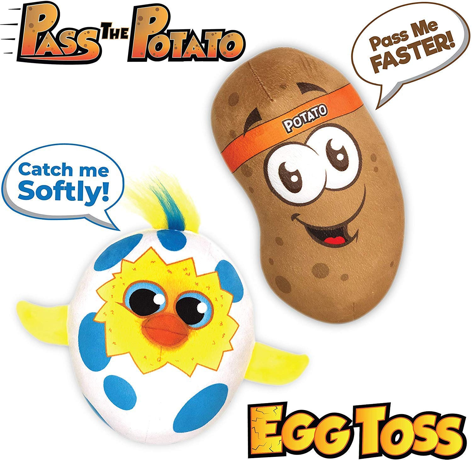 Move2Play Games Party Pack - Includes -Talkin' Potato and Egg Toss, Bundle Set by Move2Play