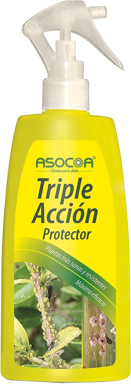 ASOCOA - Triple Acción para Plantas. Insecticida, fungicida y acaricida. Antiplagas Ecológico 300ml