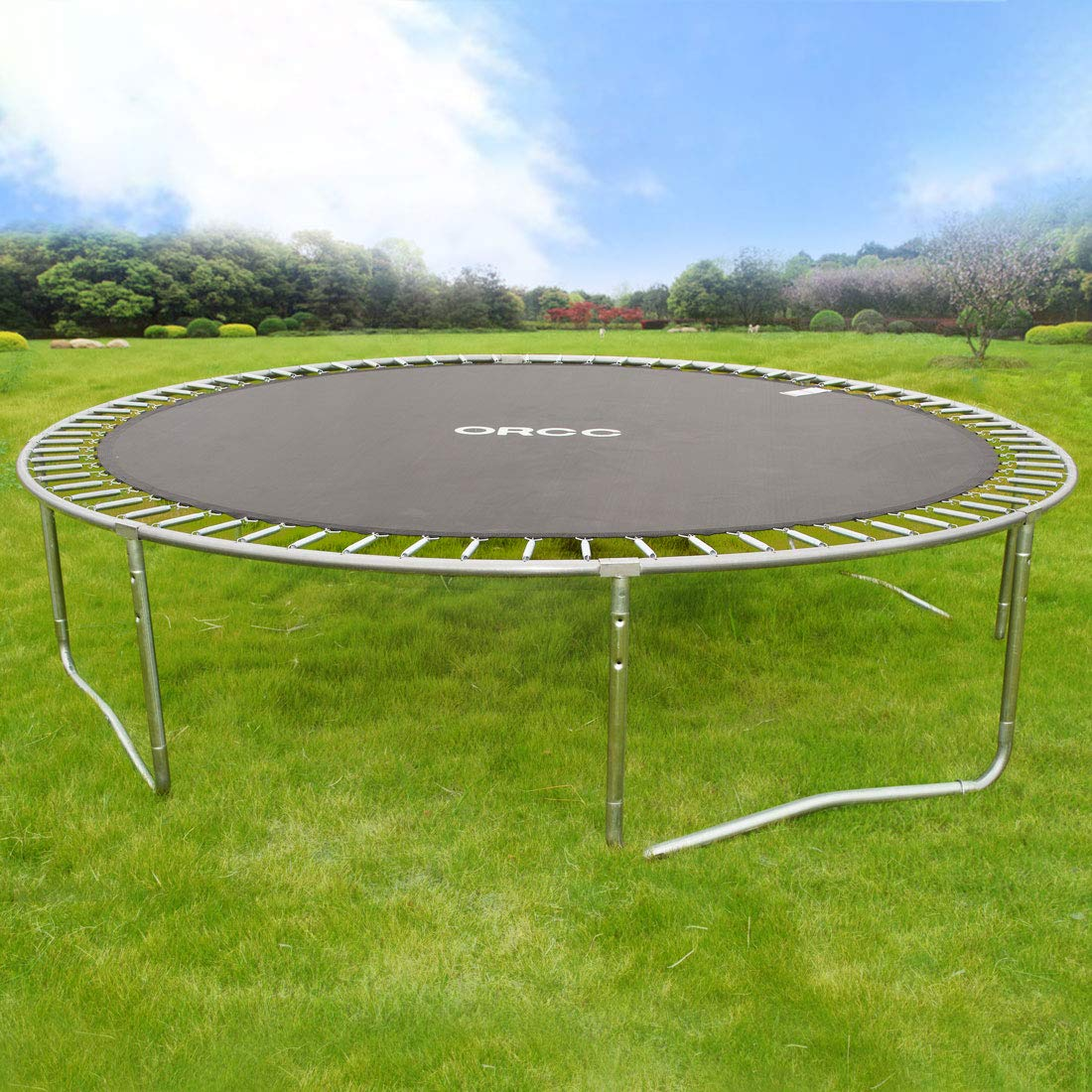 ORCC New Upgrade 15 14 12 10 FT Trampoline with Safety Enclosure Net Wind Stakes Rain Cover Ladder,Outdoor Trampoline with TUV Certificated,Best Gift for Kids by ORCC (Image #8)