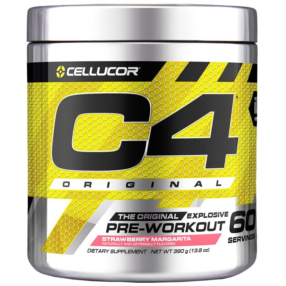 Cellucor C4 Original Pre Workout Powder Energy Drink Supplement For Men & Women with Creatine, Caffeine, Nitric Oxide Booster, Citrulline & Beta Alanine, Strawberry Margarita, 60 Servings