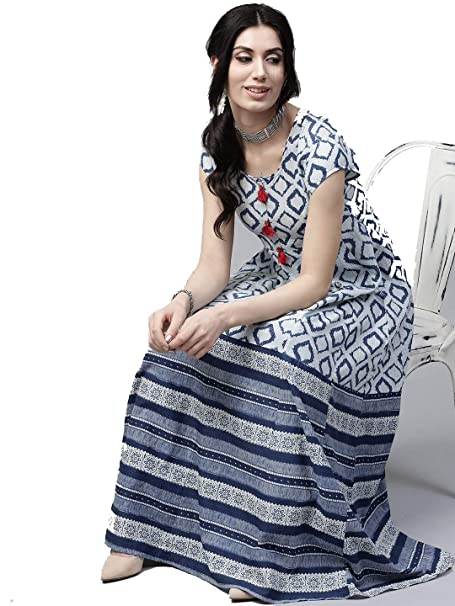7eb678d6ce Leda Grey-Navy Blue Indian Pakistani Kurtis Ethnic Kurti Women Dress:  Amazon.ca: Clothing & Accessories