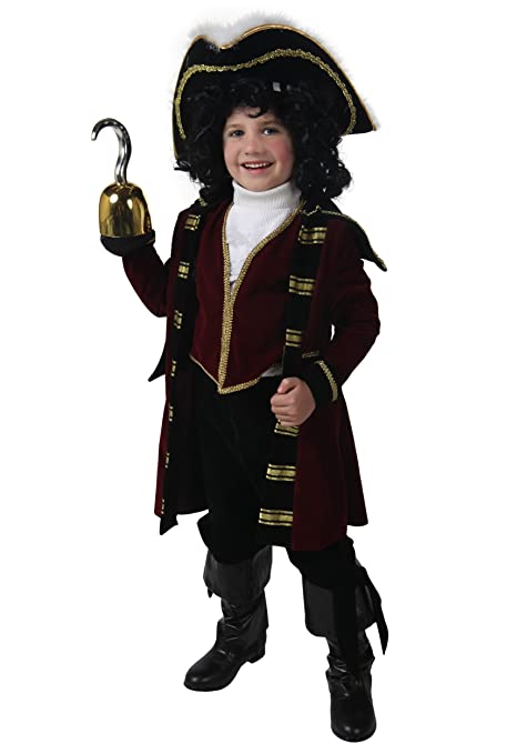Big Boys Deluxe Captain Hook Costume Medium Maroon