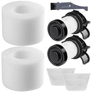 I clean Filters Compatible Shark IONFlex DuoClean Cordless Vacuum IF251 IF100 IF150 IF160 IF170 IF180 IF200 IF201 IF202 IF205 IF252 IR100,Replacement XPREMF100 XPSTMF100 Filter Set (2 Hepa + 2 Foam)