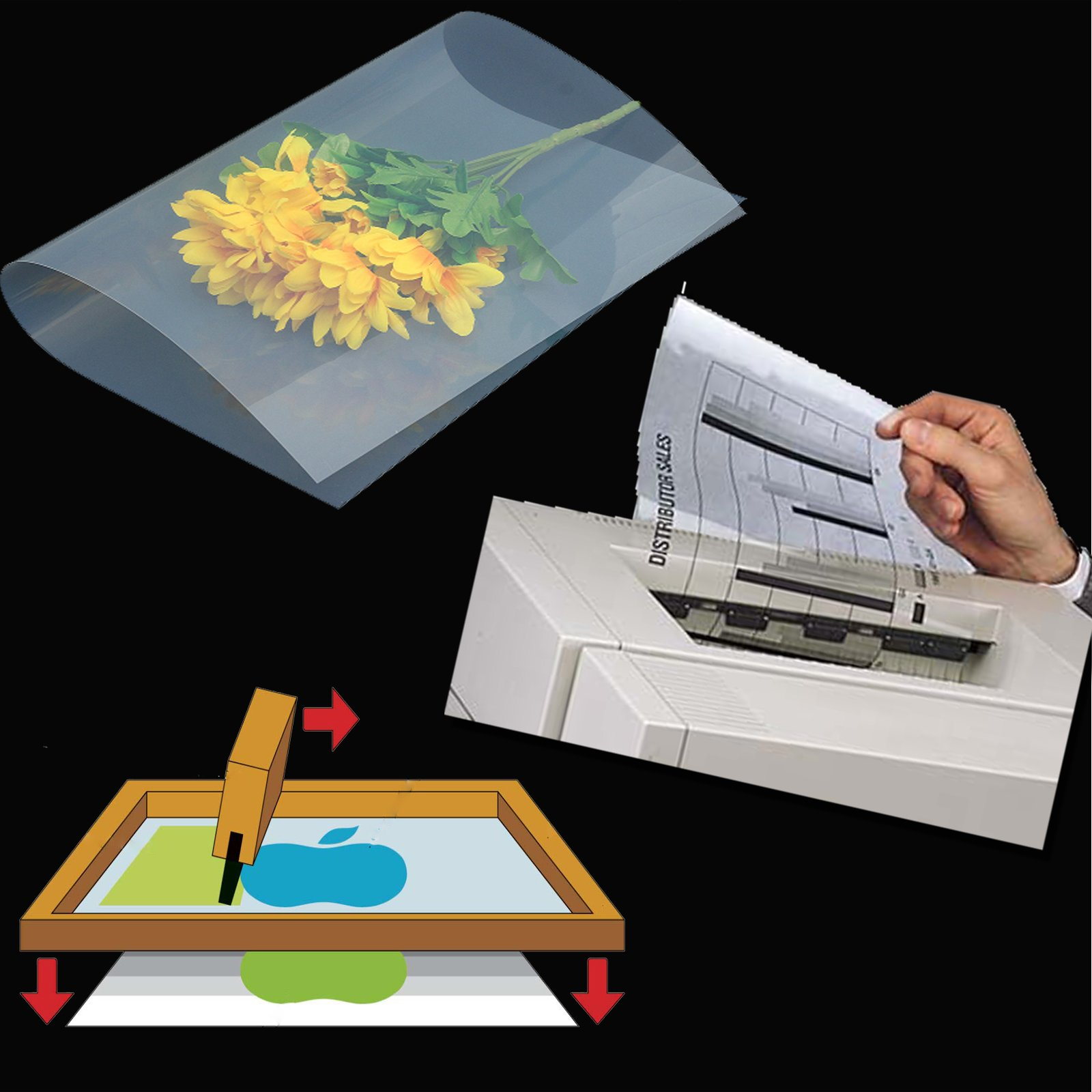 (700 sheets 8.5''x11'')Laser Printing Transparency Film Paper for Silk Screen Printing