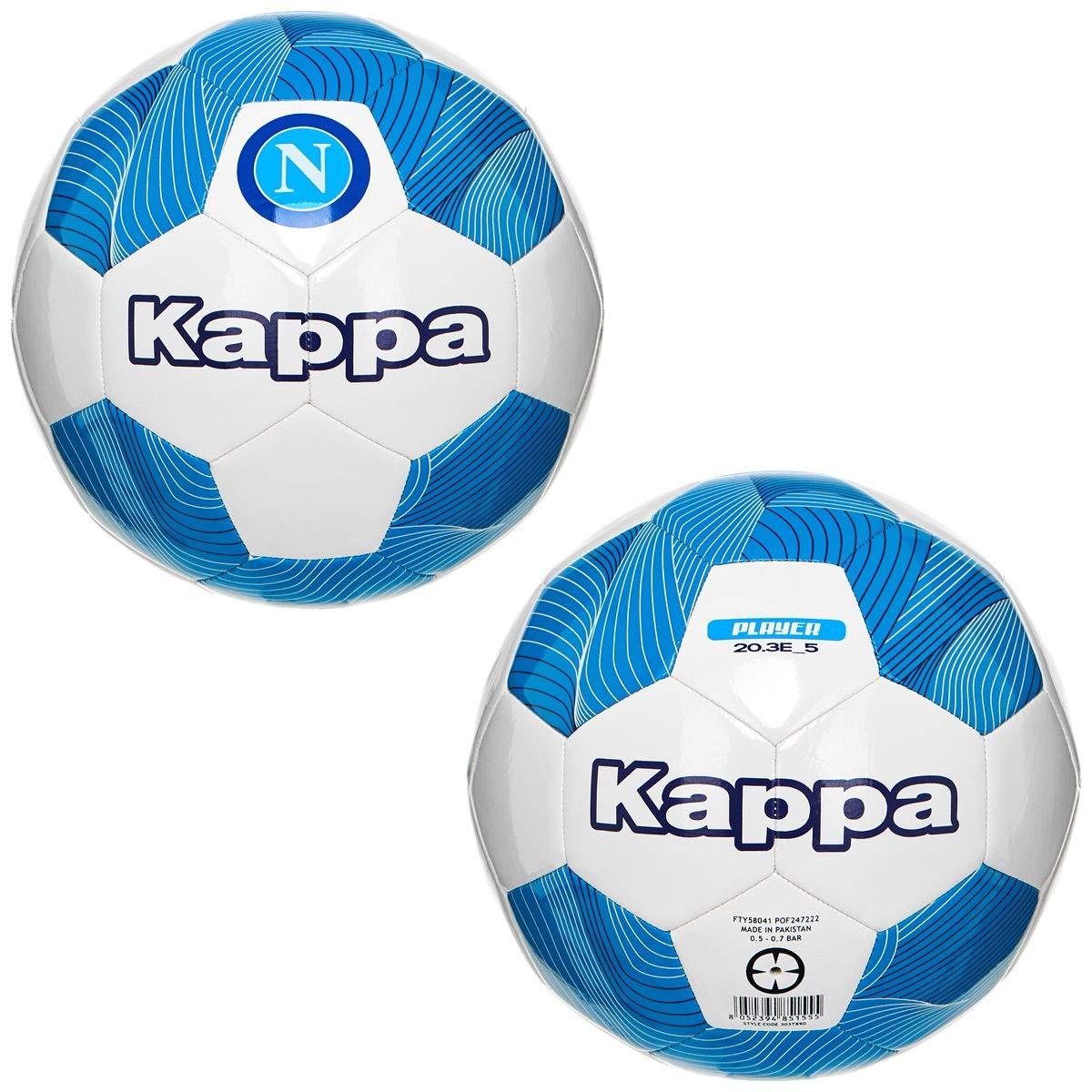 Kappa El balón de fútbol Mide 5 SSC Napoli Blanco y Azul 303T890 ...
