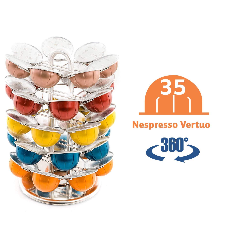 Porte-capsules Nespresso rotatif Distributeur avec capacit/é de 60 capsules de caf/é Support de capsules Peak Caf/é N60G