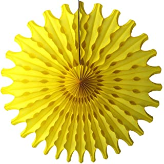 product image for Devra Party 6-Pack 18 Inch Large Honeycomb Tissue Paper Fan (Yellow)