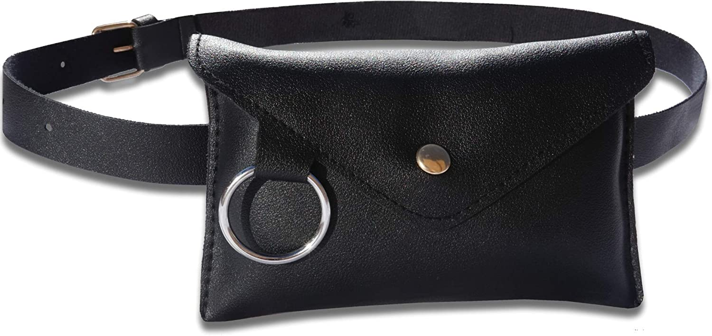 HAND PRO Riñonera Mujer Negra | Cuero sintético Resiste a los rasguños | Riñonera Mujer Moda | Riñonera Mujer Piel | Bolso Cintura Mujer | Complemento