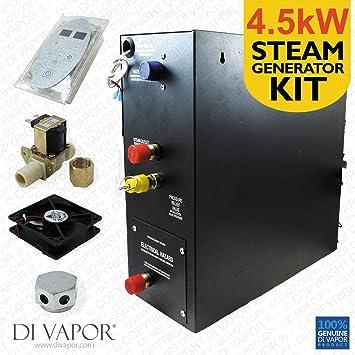4,5 KW baño de vapor o Kit de ducha | Generador de vapor 220 V | Panel de control | 1 metro: Amazon.es: Bricolaje y herramientas