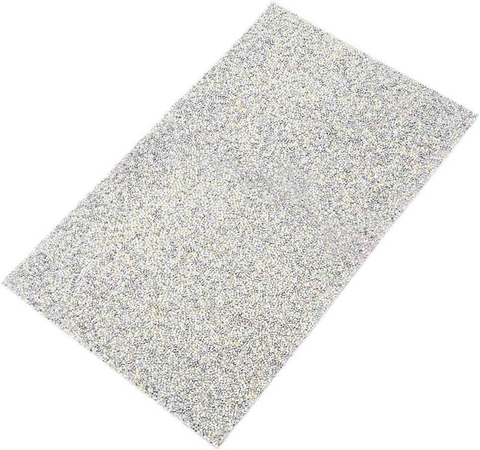 Sheens Feuille de Strass Or Autocollant en Cristal de Feuille de Diamant de Colle de Soudure de Soudure Thermique de thermocollage pour la Voiture de Bricolage d/écoration