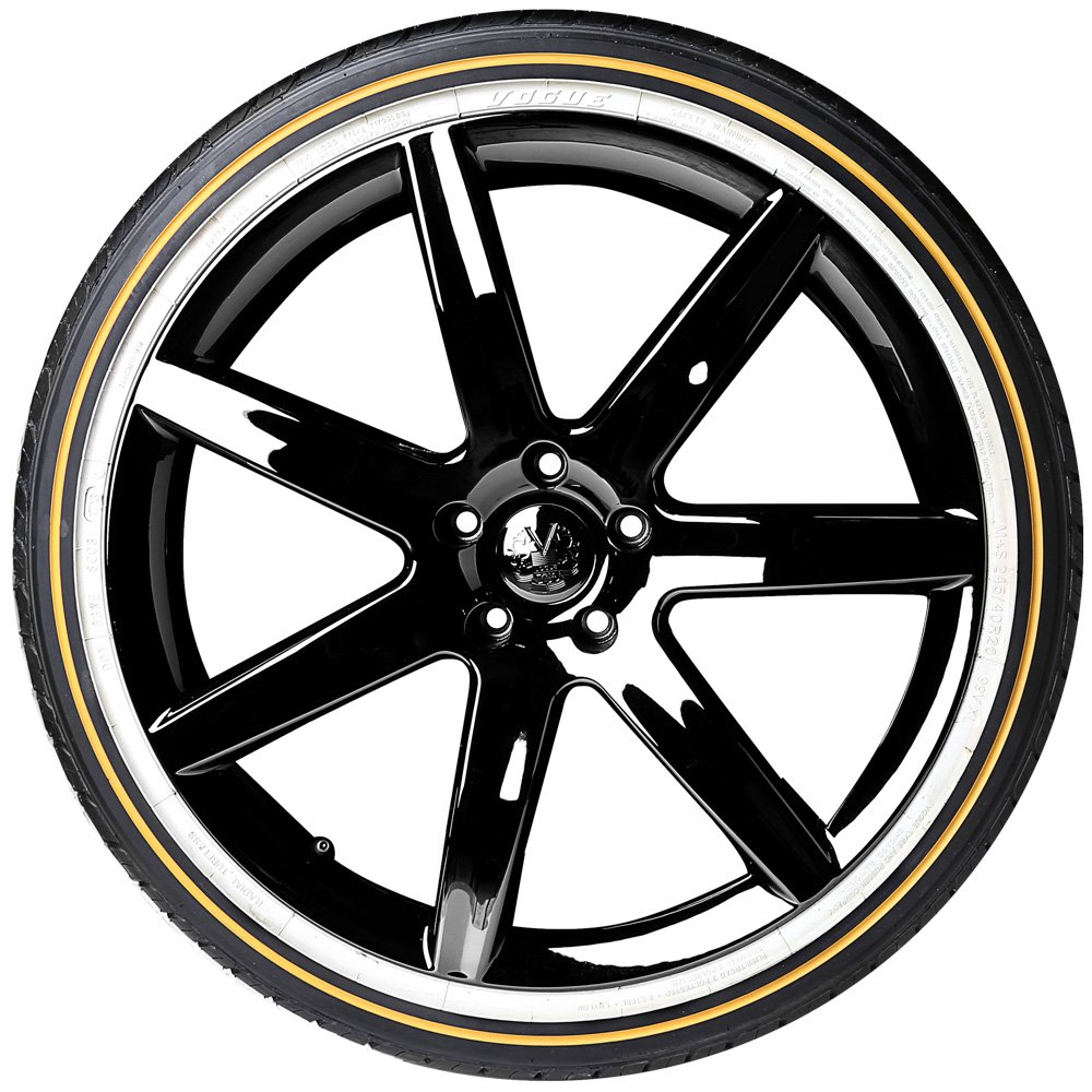 wheels tire is tires package vogue white gold and wire x cadillac hex knock off shown p wheel spoke deville per for with price
