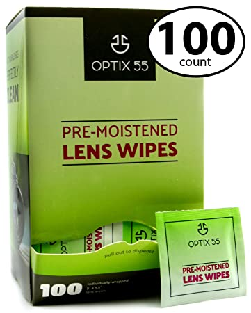 10fe7de78aa8 Pre-Moistened Glasses Cleaning Wipes - 100 Cloths in Packets - Safely Wipe  Clean Eyeglass