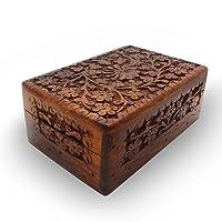 india bigshop Regalo di giorno del padre Artigianali in legno indiano Jewelry Box