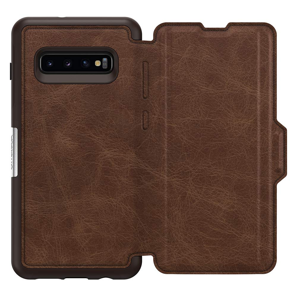 OtterBox STRADA SERIES Case for Galaxy S10+ - Retail Packaging - ESPRESSO (DARK BROWN/WORN BROWN LEATHER) by OtterBox (Image #3)