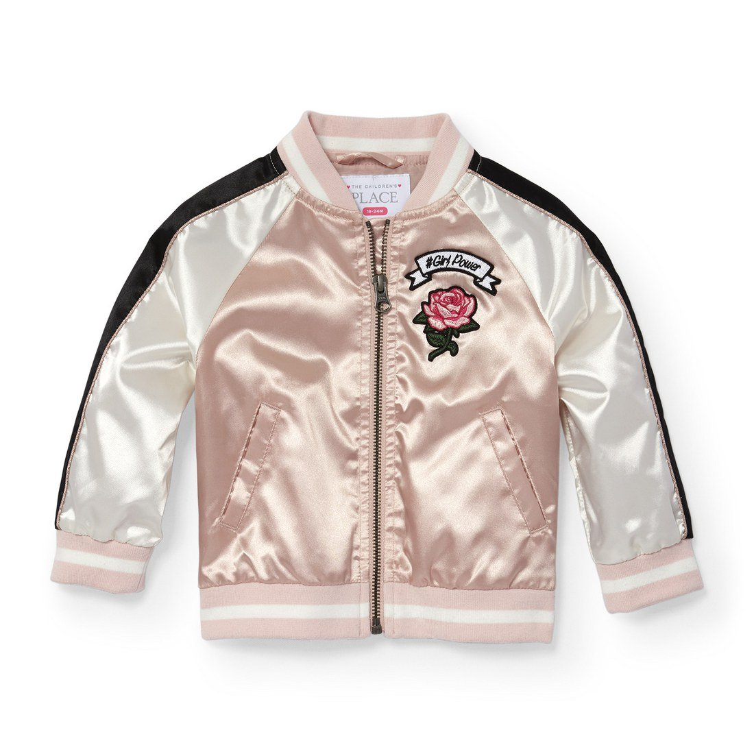 892939fb0 The Children s Place Baby Girls 6223 Satin Bomber Jacket  Amazon.in ...