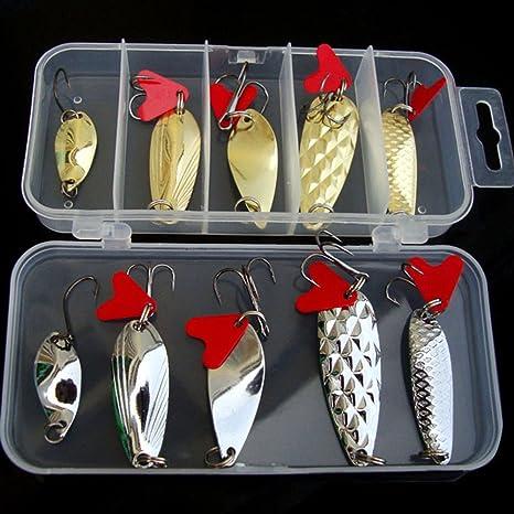 Juego de 10 señuelos de pesca duros para pesca de agua dulce de ...