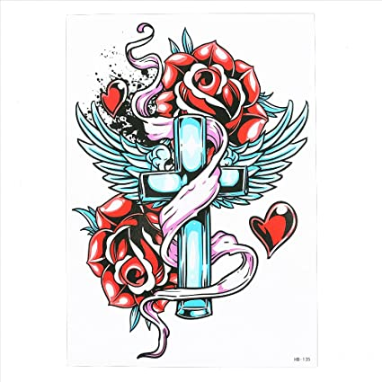 ARM Tattoo temporär brazo tatuaje pegatinas rosas hb135: Amazon.es ...