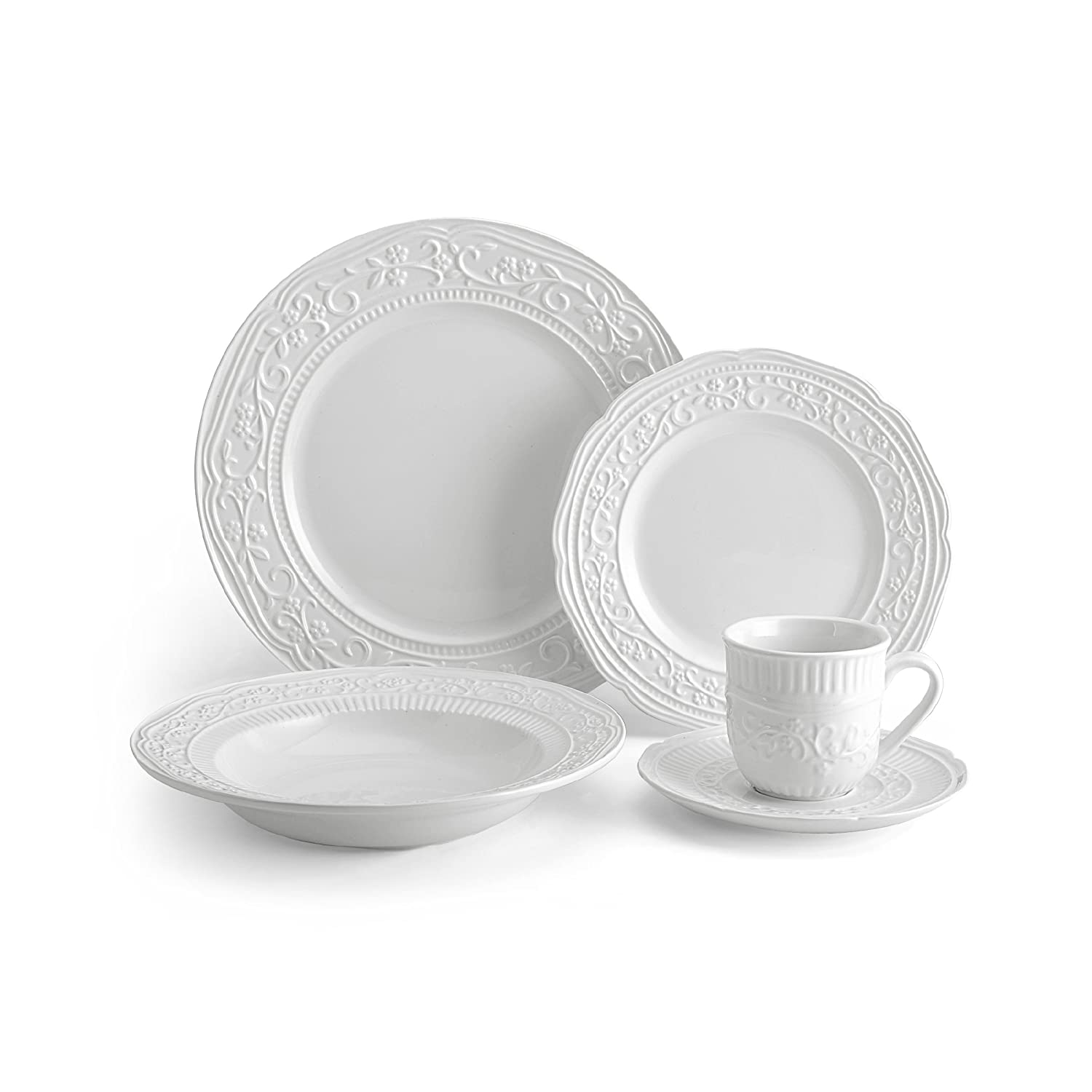Christmas Tablescape Décor - Mikasa American Countryside 40-piece dinnerware set - Service for 8