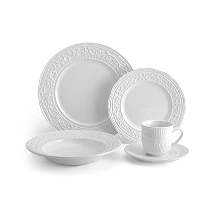 Mikasa American Countryside 40-Piece Dinnerware Set Service for 8  sc 1 st  Amazon.com : dinnerware service for 8 - pezcame.com