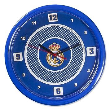 Reloj de pared REAL MADRID CF casera Oficial: Amazon.es: Deportes y aire libre