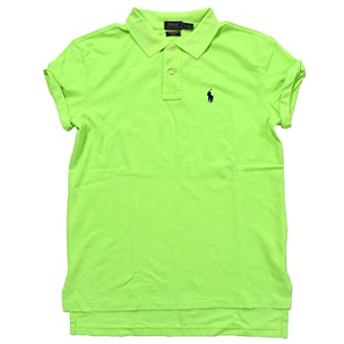 Boyfriend Polo Lauren Fit Shirt Ralph Women's Mesh j4L35qAR