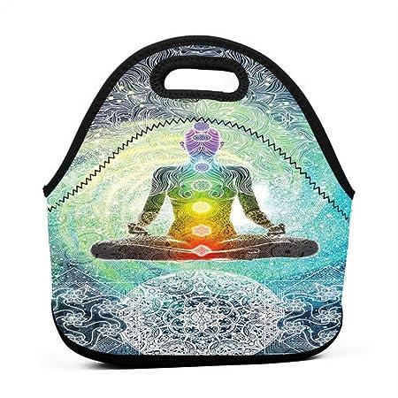 Yoga Design Hippie Style Portable Lunch Bags,Reusable Picnic ...