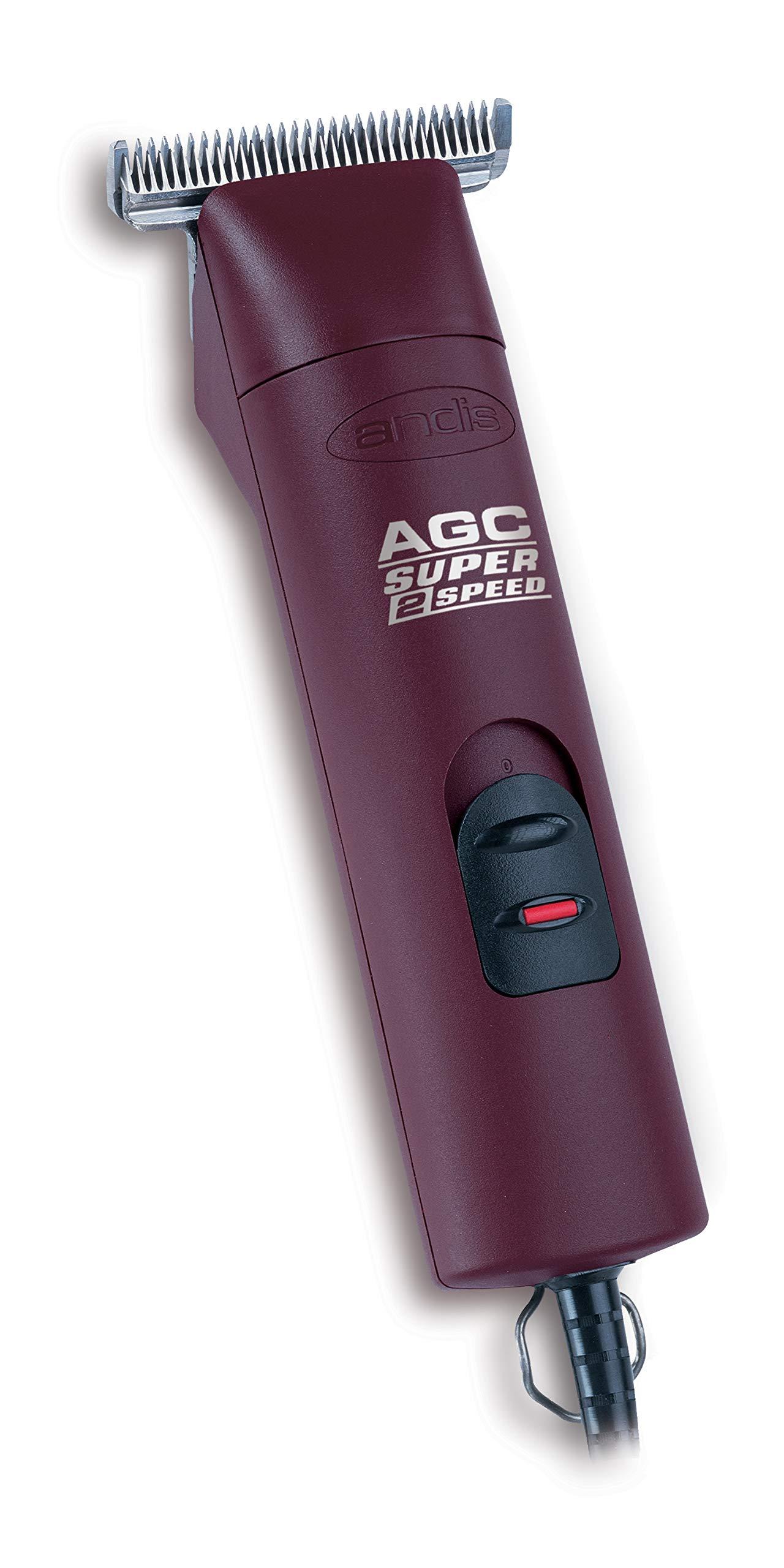 Andis 2-Speed Detachable Blade Equine & Livestock Professional Grooming, Burgundy 22330, AGC2