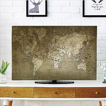 Funda para televisor LCD, diseño Antiguo, diseño de Renacimiento Antiguo, Arquitectura con columnas, Color Blanco y Azul, Compatible con TV de 50 Pulgadas y 52 Pulgadas: Amazon.es: Electrónica