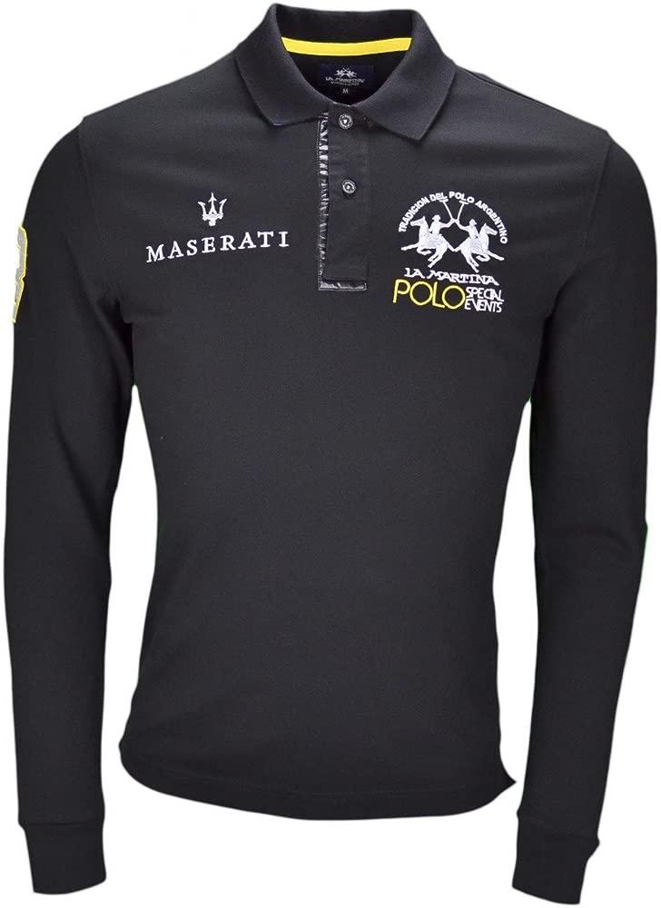 La Martina - Polo - Blusa - para Hombre Negro S: Amazon.es: Ropa y ...