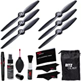 YUNEEC Propellers for Typhoon H Hexacopter YUNTYH118A (Position A, 3-Pack), YUNEEC Propellers for Typhoon H Hexacopter YUNTYH118B (Position B, 3-Pack) and Ritz Gear Premium Cleaning Kit