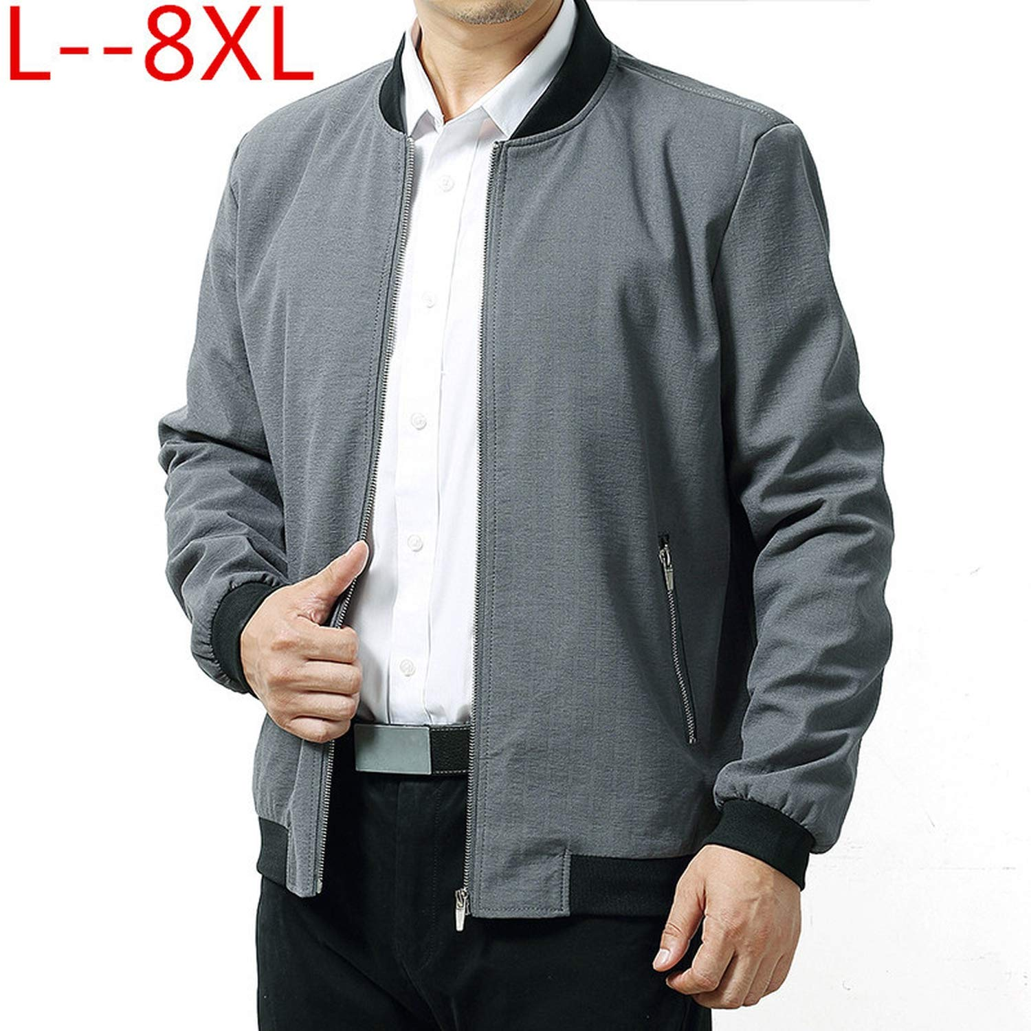 Amazon.com: Piiuiy Yuik Spring Jackets Coat 6XL 8XL 5XL Male ...
