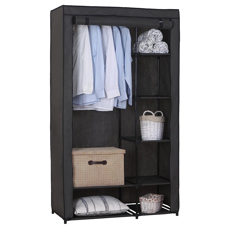 WOLTU Portable Clothes Closet Storage Organizer Rack Grey