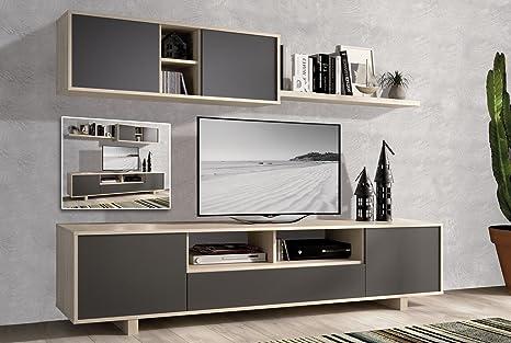 Mobili da salotto moderni in colore cambria / grafite ...