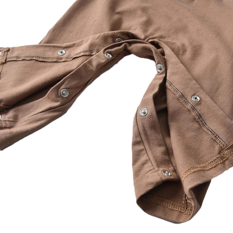 XINXINHAIHE Infant Baby Boy Long Sleeve Gentleman Romper Cotton Jumpsuit Overall Outfit