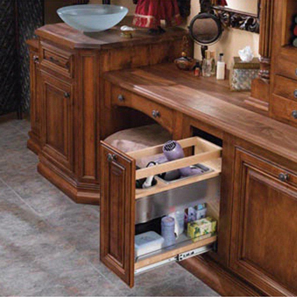 Amazon.com: Rev-A-Shelf 445-VCG20-8 Vanity Grooming Organizer - Wood ...