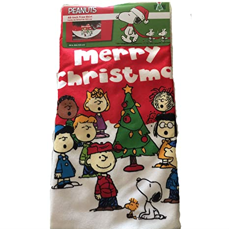 Image Unavailable. Image not available for. Color: PEANUTS 48 Inch Christmas  Tree Skirt ... - Amazon.com: PEANUTS 48 Inch Christmas Tree Skirt Charlie Brown