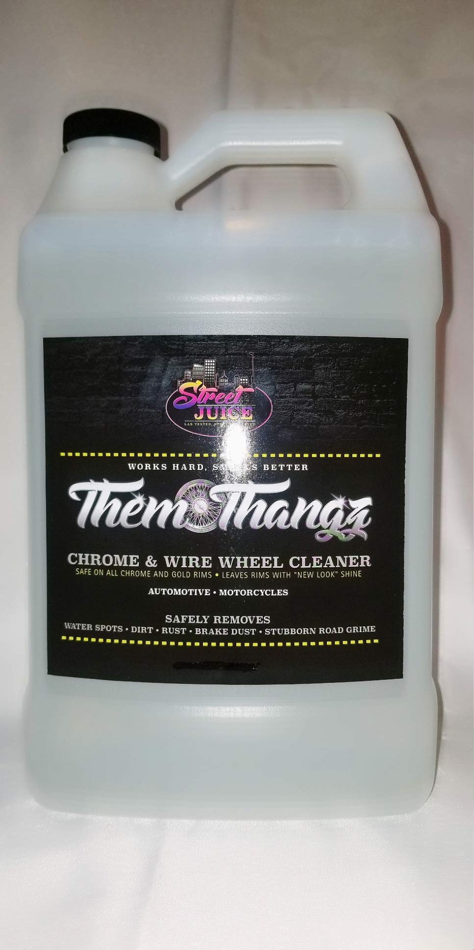 Them Thangz TT1 - Street Juice Products 1 Gallon Chrome & Wire Wheel Cleaner