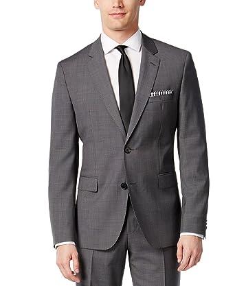 Hugo Boss Men's Slim Fit Gray 100% Virgin wool 2 piece Suit C-Jeffery