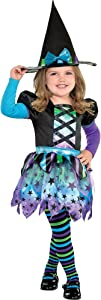 Witch Dress Halloween Costume for Girls, Large, with Included Accessories, by Amscan, Multicolor