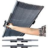 Retractable Windshield Sun Shade, RUN STAR Adjustable Sun Visor Protector Sunshade | Keep Your Vehicle Cool | Block Heat and