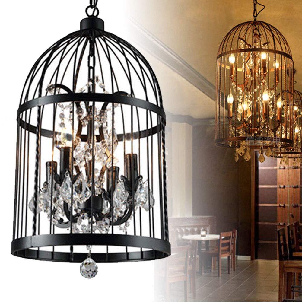 Birdcage Crystal Chandelier American Village Retro Restaurant Living Room Bedroom Cafe Lighting led Lighting Fixture led Lamps