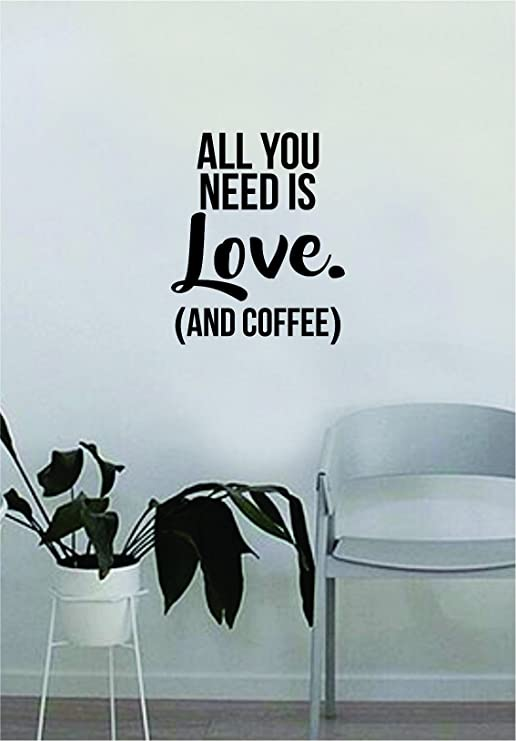 ALL YOU NEED IS LOVE wall sticker bedroom 3 sizes available vinyl decal