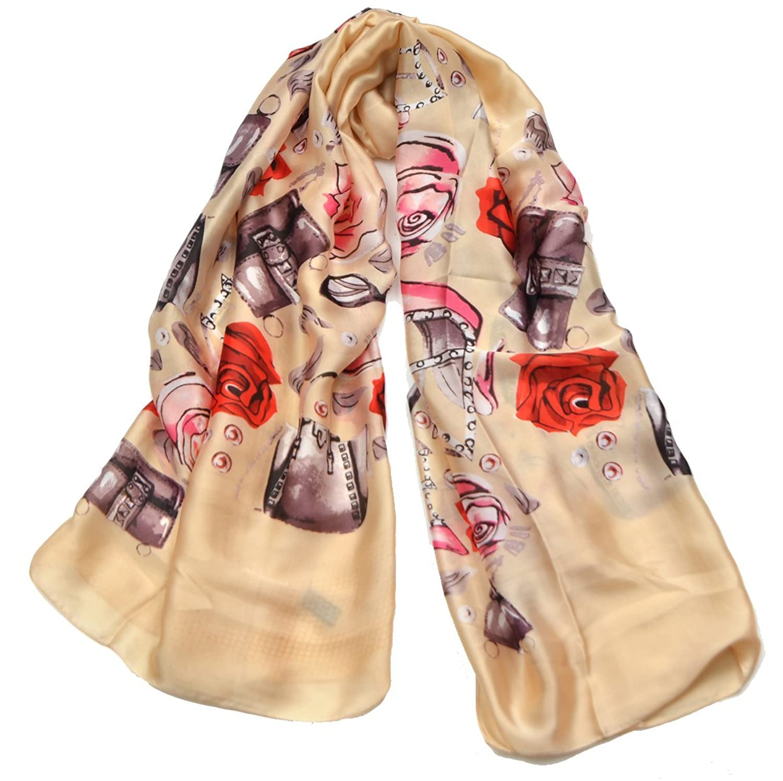 Retro Design Woman's Fashion Printed Pattern Scarf Shawl Beach Towel