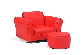 LazyBones Sofa sillon ROJO NIÑOS para niños: Amazon.es: Hogar
