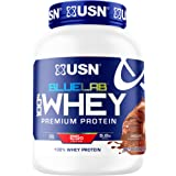 USN Supplements BlueLab 100 Percent Whey Protein Powder Molten Chocolate - Keto Friendly, Low Carb and Low Calorie