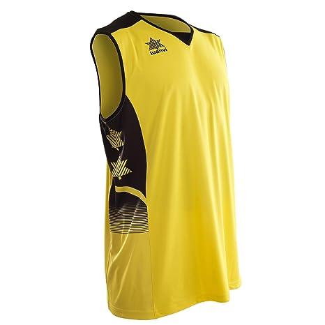 Luanvi Atlas Camiseta de Tirantes Deportiva de Basket, Unisex Adulto, Amarillo, XXL