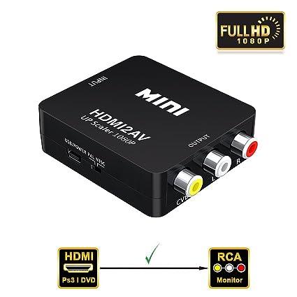 amazon com valinks 1080p hdmi to av hdmi to 3rca composite cvbs