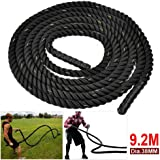 Outdoortips 38mm 9M/9.2M Training Battling Battle Power Rope Body Strength Sport Exerice Fitness Bootcamp