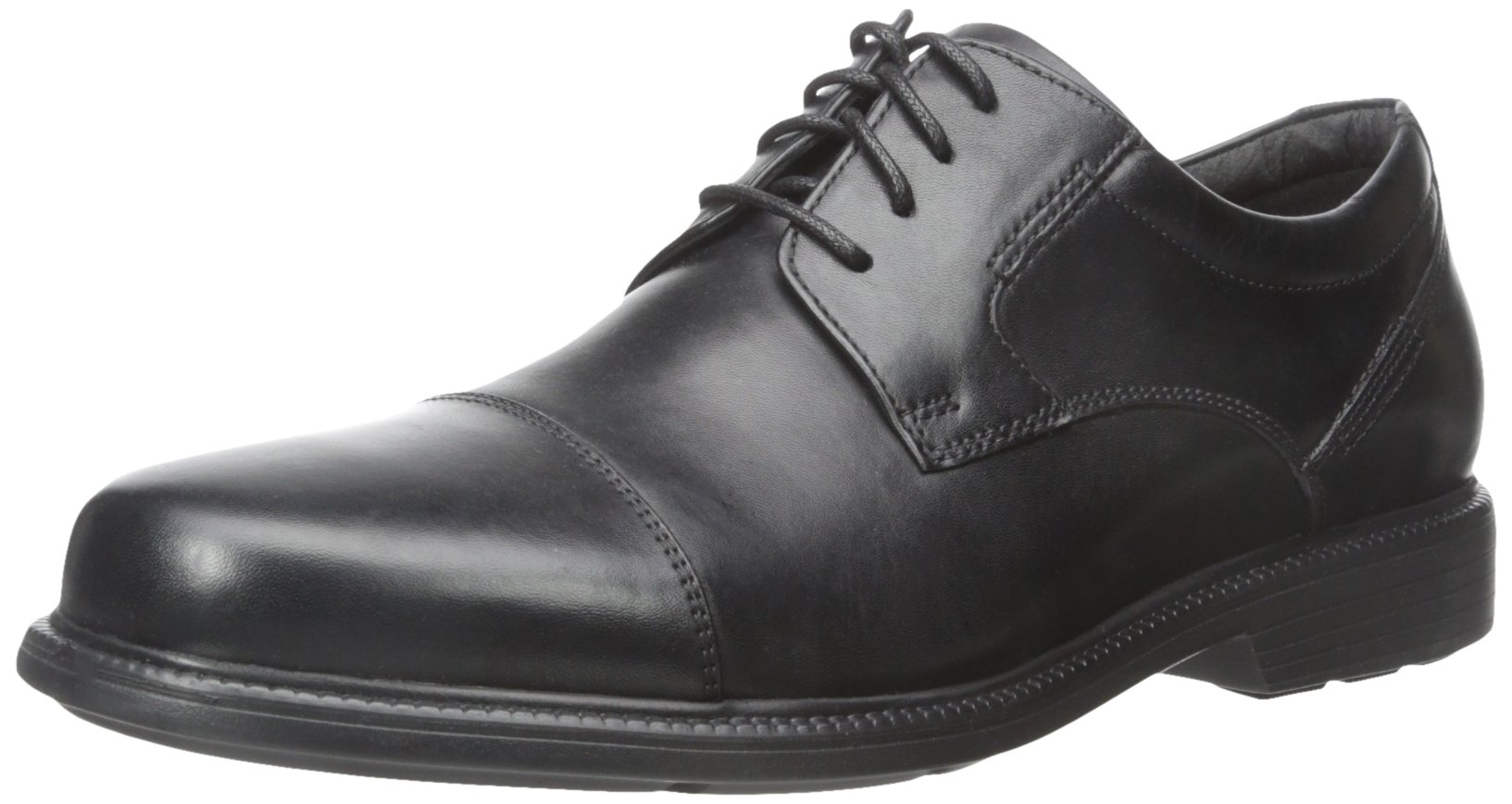 Rockport Men's Charles Road Cap Toe Oxford Black Leather 9.5 M (D)-9.5  M