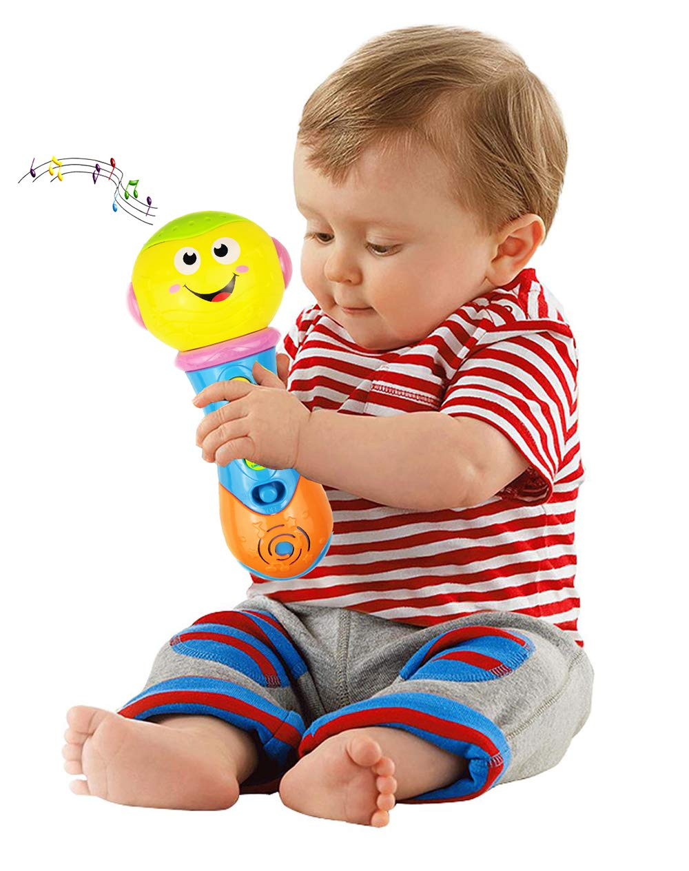 Toy for 6-12 Month Baby Toddler, Toy Microphone for 9-18 Month Girl Boy Toys Gift for 1-3 Year Old Babies Girl Music Toy for 12-24 Month Toddler Boys Birthday Gift Toy Age 1 2 3 by Jeacy (Image #5)